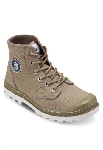 zalora鞋子評價帆布繫帶低筒踝靴, 鞋, 鞋