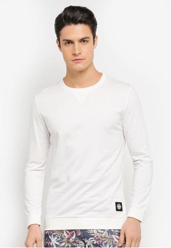 JAXON white Logo Rib Collar Sweatshirt BC524AAE039BDDGS_1