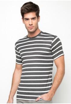 Basic Round Neck with Stripes Shirt