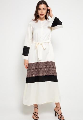 Covering Story white Ghayda Dress 34438AA8ACFA31GS_1