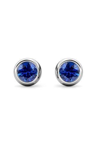 Her Jewellery blue and silver Birth Stone Moon Earring September Sapphire WG- Anting Crystal Swarovski by Her Jewellery 36858ACF2F0616GS_1