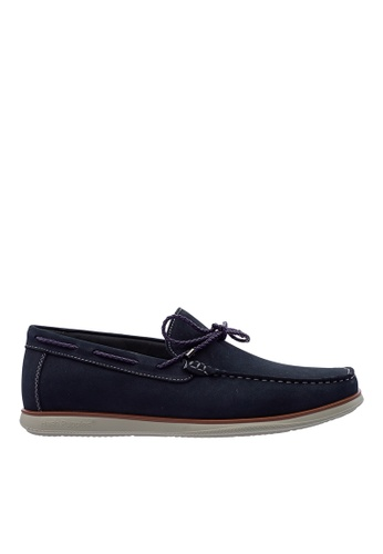 Hush Puppies navy Hush Puppies Men's Corona Slip On Loafer - Navy 420B9SHD0FFD08GS_1