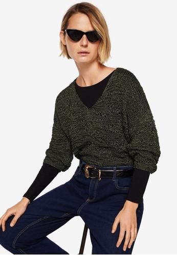 Mango green Open-Knit Sweater 9DD9BAA0EDAEFDGS_1