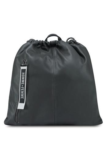 Something Borrowed grey Drawstring Backpack E51CAAC7DC09E8GS_1