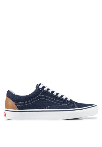 VANS blue Old Skool Denim C&L Sneakers VA142SH0SKVFMY_1