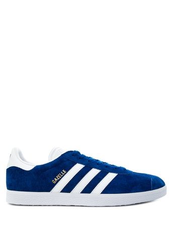 Adidas white and blue adidas originals gazelle   AD678SH36HKXPH_1
