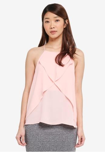 ZALORA pink Ruffle Cami Top D0156AA7DBCA2BGS_1