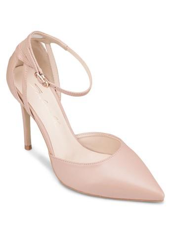 網眼拼接繞踝高跟鞋, esprit 兼職女鞋, 鞋