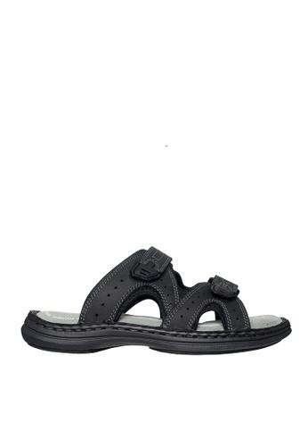 Hush Puppies black Hush Puppies Men's Emilyo Slide Sandal - Black BE12BSH9BE3099GS_1