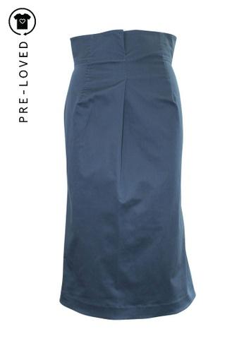 Jil Sander blue Pre-Loved jil sander High Waist Skirt F3F5FAAE26AD27GS_1