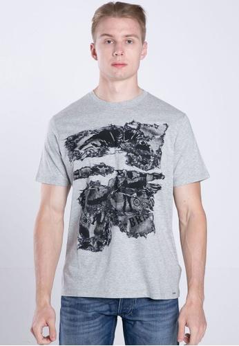 Diesel grey T-JOE-NC MAGLIETTA T-Shirt 5A7C6AA45156EBGS_1
