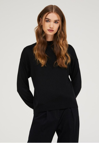 Sisley black Relaxed Fit Sweater D4494AA0B26F1AGS_1