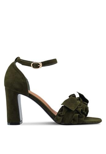 Something Borrowed green Ruffled heels CEA32SH265F47DGS_1