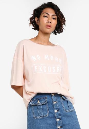 Mango pink Double-Layered T-Shirt MA193AA98BZDMY_1