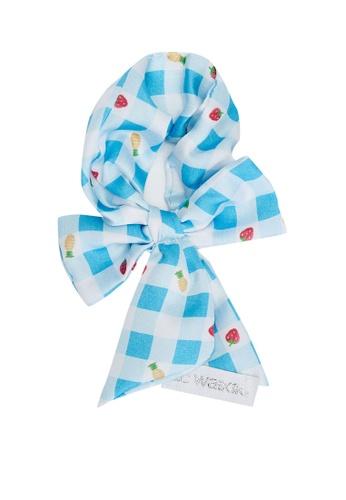LC WAIKIKI blue Plaid Printed Girl Hair Tie C8D68KCFA41E8DGS_1