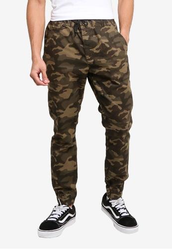 LC WAIKIKI green Slim Fit Textured Trousers E17D3AA0E2FF92GS_1