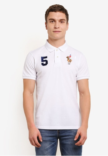 MILANO 白色 Embroidered Polo Shirt MI248AA0S1N7MY_1
