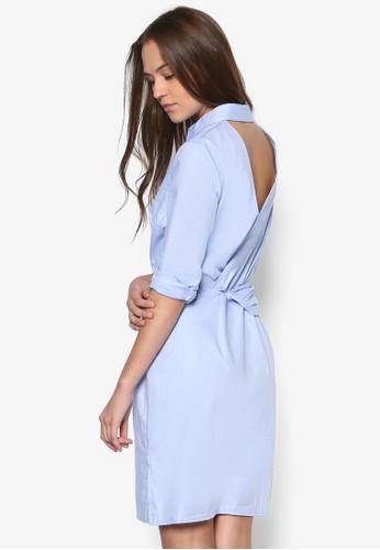Brunswiesprit台灣outletck 裹飾襯衫式連身裙, 服飾, 洋裝