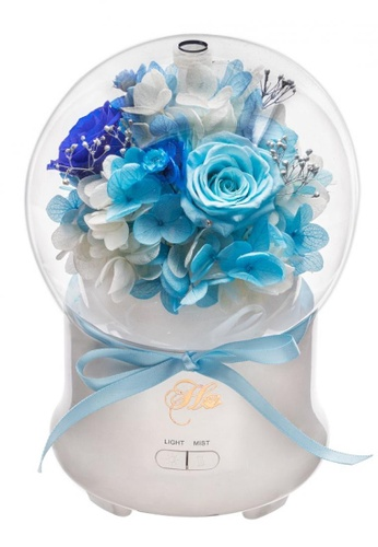 Her Jewellery blue Everlasting Preserved Rose - Rose Humidifier (Blue) 1DF10HLFD4648DGS_1