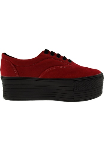 Maxstar red Maxstar Women's C50 5 Holes Platform Suede Low Top Sneakers US Women Size MA164SH64PRVSG_1