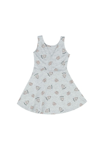 FOX Kids & Baby grey All Over Printed Jersey Dress 4098CKA913EBE7GS_1