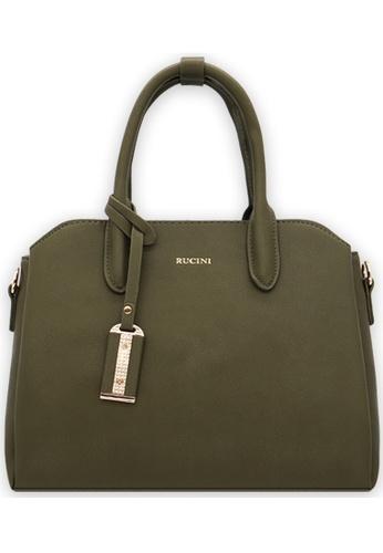 RUCINI green Slanted Edge Handbag B6754ACB80FD52GS_1
