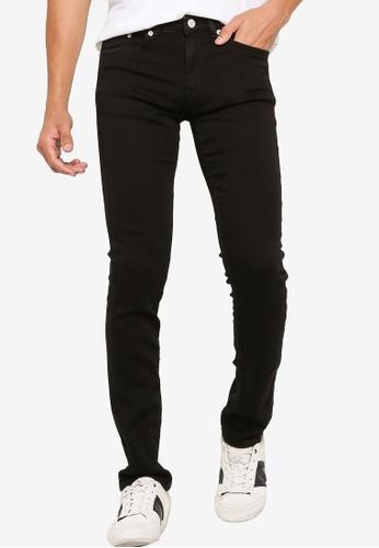 Electro Denim Lab black Tight Fit Jeans 692B5AAB877856GS_1