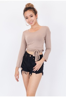 7b176c1156742 Hook Clothing One Shoulder Crop Top RM 48.00. Long Sleeve Bow Detail Tee  97E09AA07C508EGS 1