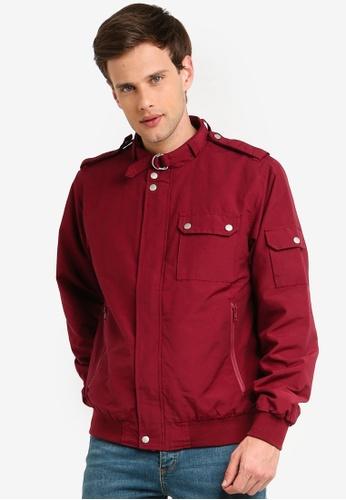 Topman 紅色 立領外套 58BF1AA96C3C60GS_1