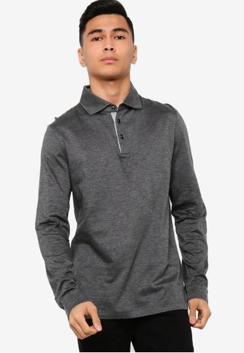 BOSS black T-Morrison 09 Long Sleeve Polo Shirt FC760AA31AE3B9GS_1