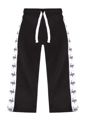 Just Hype black Tape Jogger Pants 7CBD3KAC7A0528GS_1