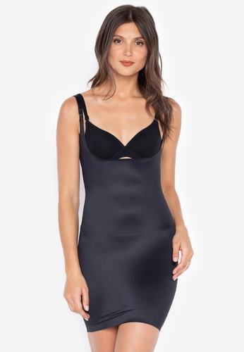 DEBENHAMS black Debenhams - WEAR YOUR OWN BRA SLIP DRESS 83E96US43E1897GS_1