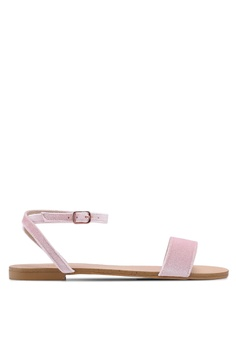 4d016116cd5d Velvet pink Simple Sandlas With Ankle Strap C7A5FSH3A6169EGS 1
