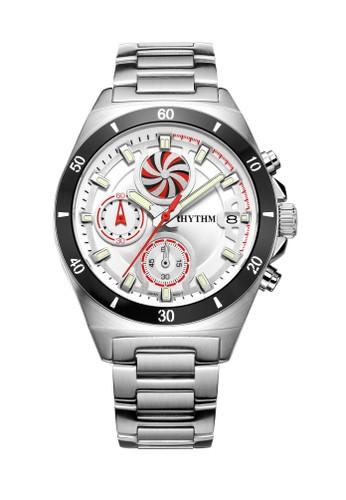 Rhythm S1405S 01 - Jam Tangan Wanita - Stainless - Silver White