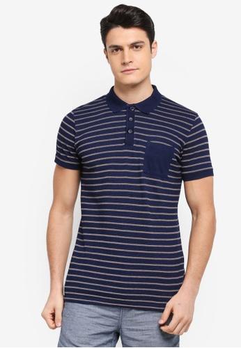 ESPRIT navy Short Sleeve Polo Shirt F6A9BAA6616C48GS_1
