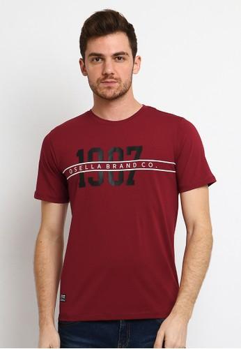 Osella red Osella Baju Pria Tshirt Lengan Pendek Red F1A4FAAF4D1195GS_1
