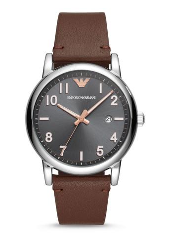 ARMANI brown Luigi Analog Watch AR11175 827D0AC0BBEB87GS_1