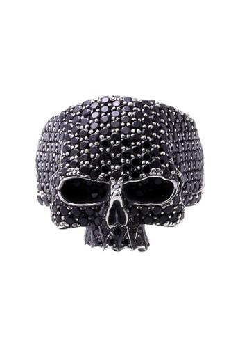 The LoveMark silver ReCreate Skull Ring Black CZ TH516AC55PPCPH_1