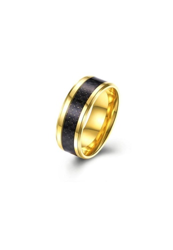 ADORA Stainless Steel Gold Ring AD365AC2VUPGHK_1