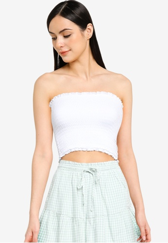 Hollister white Smocked Tube Top 7118DAA3A76A03GS_1