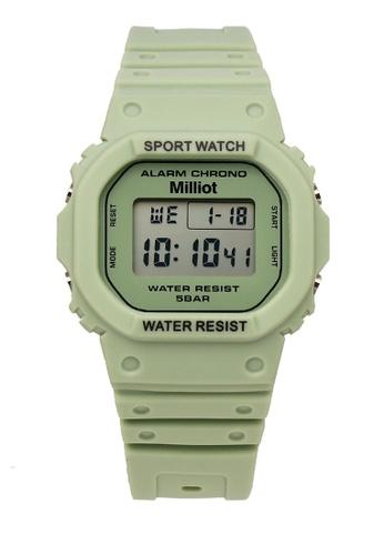 Milliot & Co. green Jaycee Watch 2BB9CAC26B8E4BGS_1