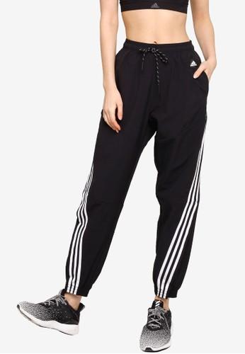 ADIDAS black sportswear lightweight travel pants 65332AADBBDD03GS_1