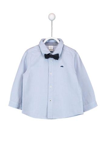 LC Waikiki blue Baby Boy's Oxford Shirt And Bowtie F1265KA170AB3BGS_1
