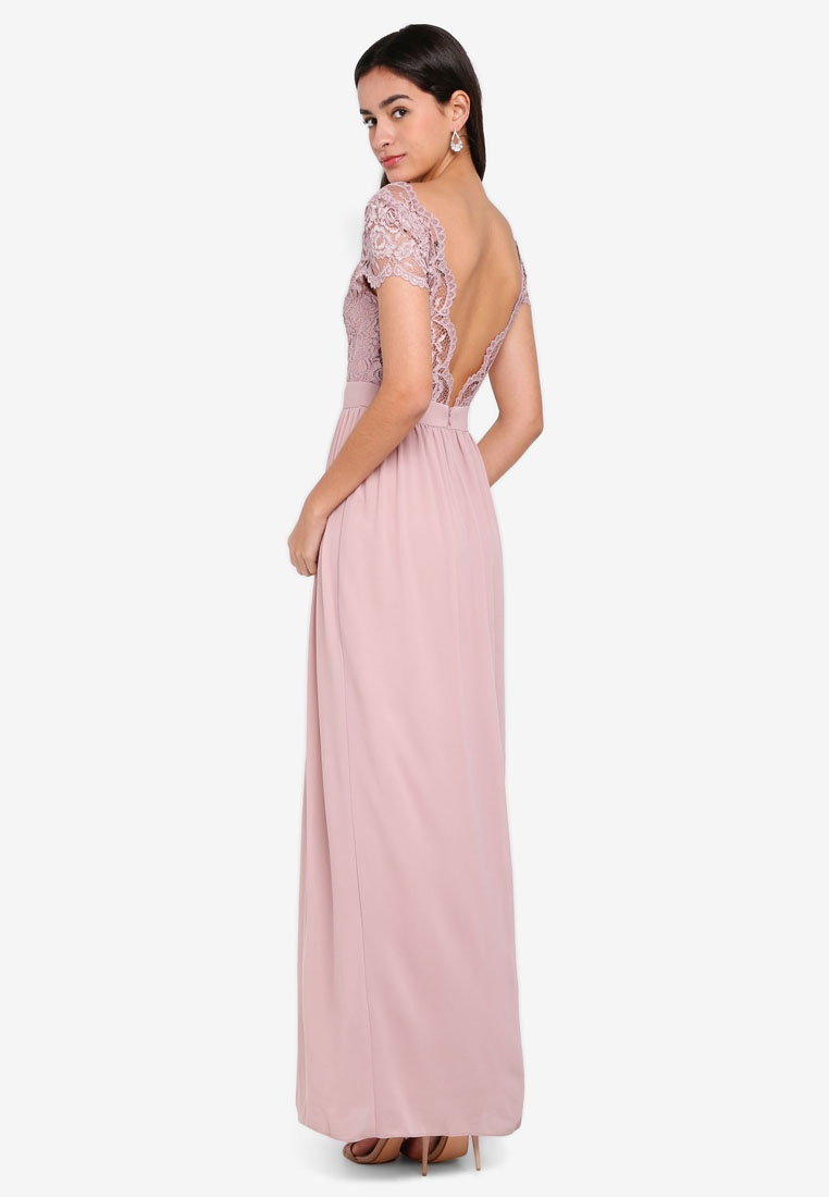 Mauve Maxi Pale TFNC Dress Abilinia 64IvxqAww