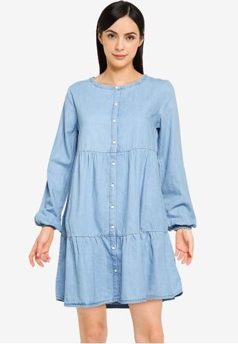 Springfield blue Loose Tencel Denim Dress 75515AA1322F14GS_1