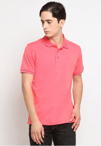 Police Denim pink Comfort Polo Shirt 1C50AAA58E790BGS_1