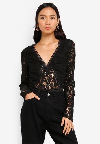 MISSGUIDED black Black Lace Bodysuit 7CEE0AA3DE08D5GS_1