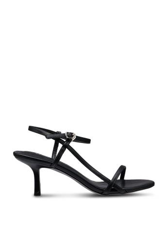 Kimmijim black Orna Strappy Ankle Strap Heels 06A24SH301C14FGS_1
