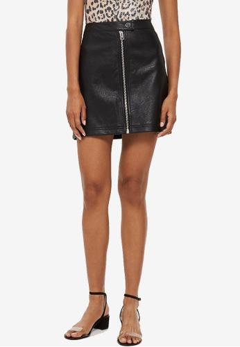 290bbacc1 Buy TOPSHOP Petite Leather Look Mini Skirt Online | ZALORA Malaysia