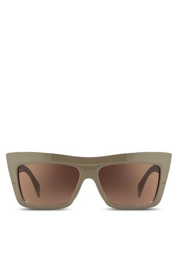 Kara 平扁眉框太陽眼esprit 折扣鏡, 飾品配件, 飾品配件